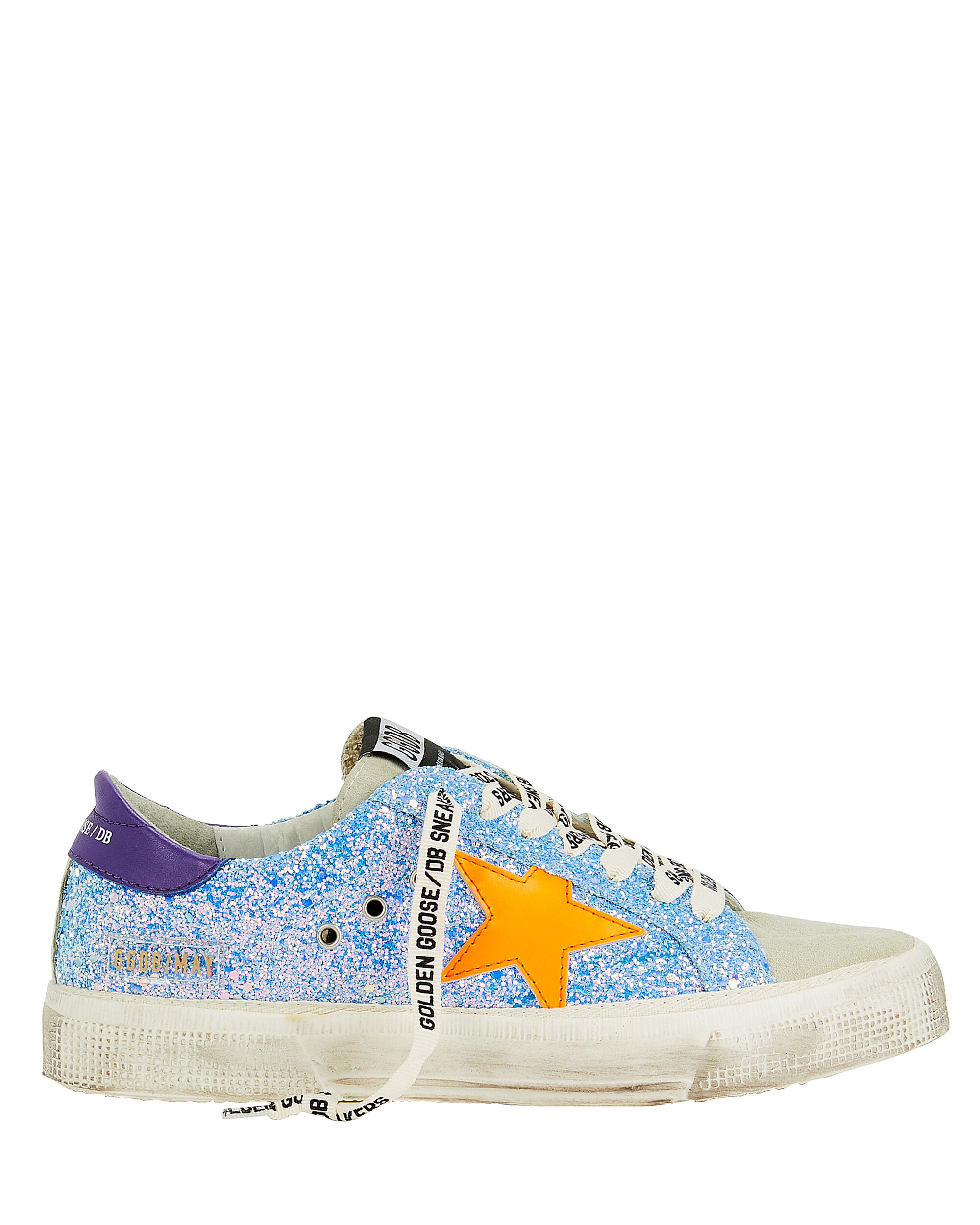 May Orange Star Glitter Low-Top Sneakers, LIGHT BLUE, hi-res