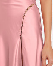 Satin Cowl Neck Slip Dress, BLUSH, hi-res