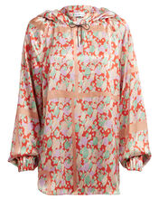 Erica Hooded Floral Crepe Blouse, MULTI, hi-res