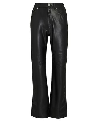 Vinni Vegan Leather Straight-Leg Pants, BLACK, hi-res