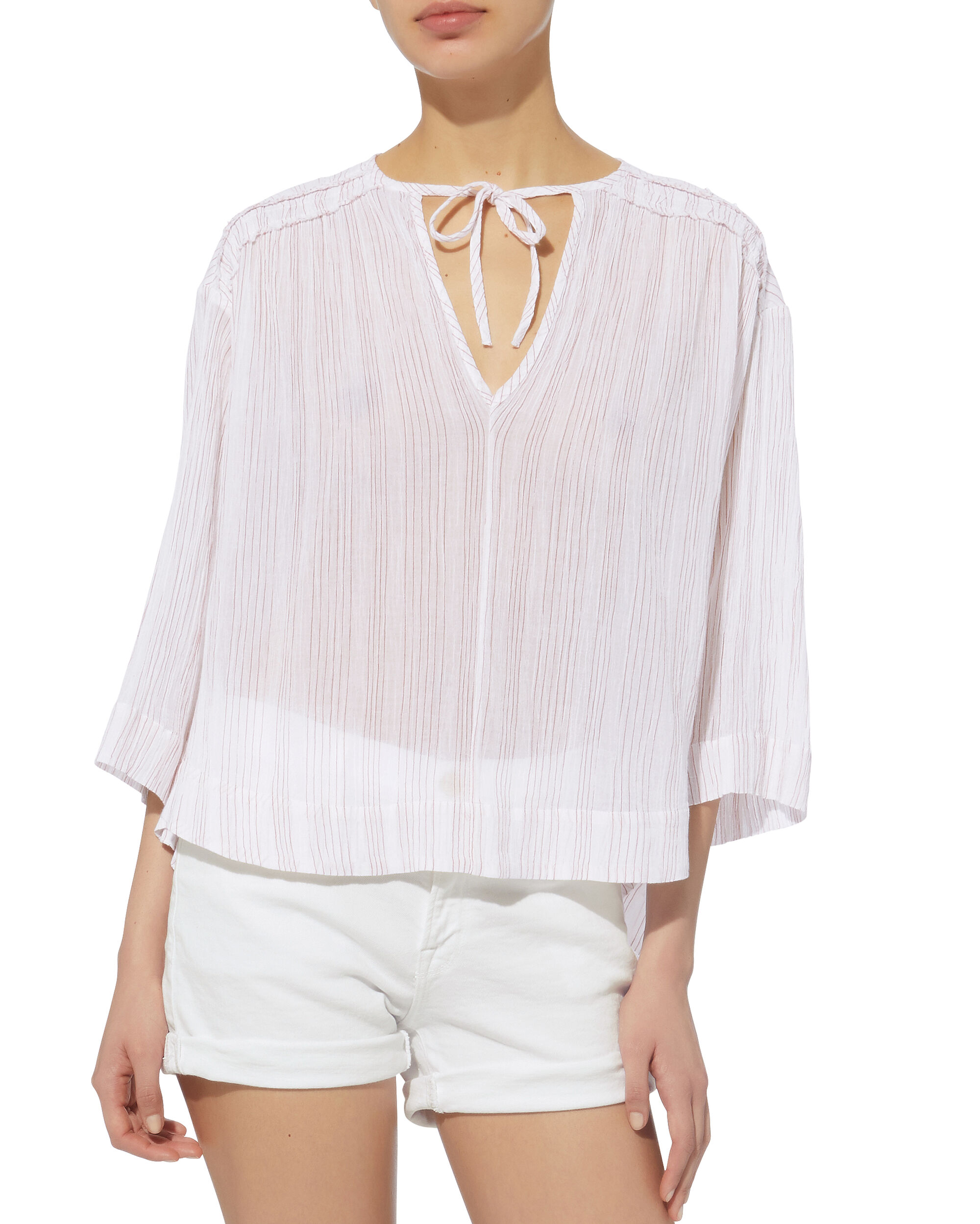 Variegated Striped Top, WHITE/STRIPE, hi-res