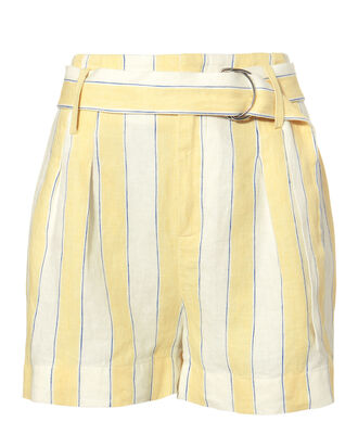 Linen Striped Shorts, MULTI, hi-res