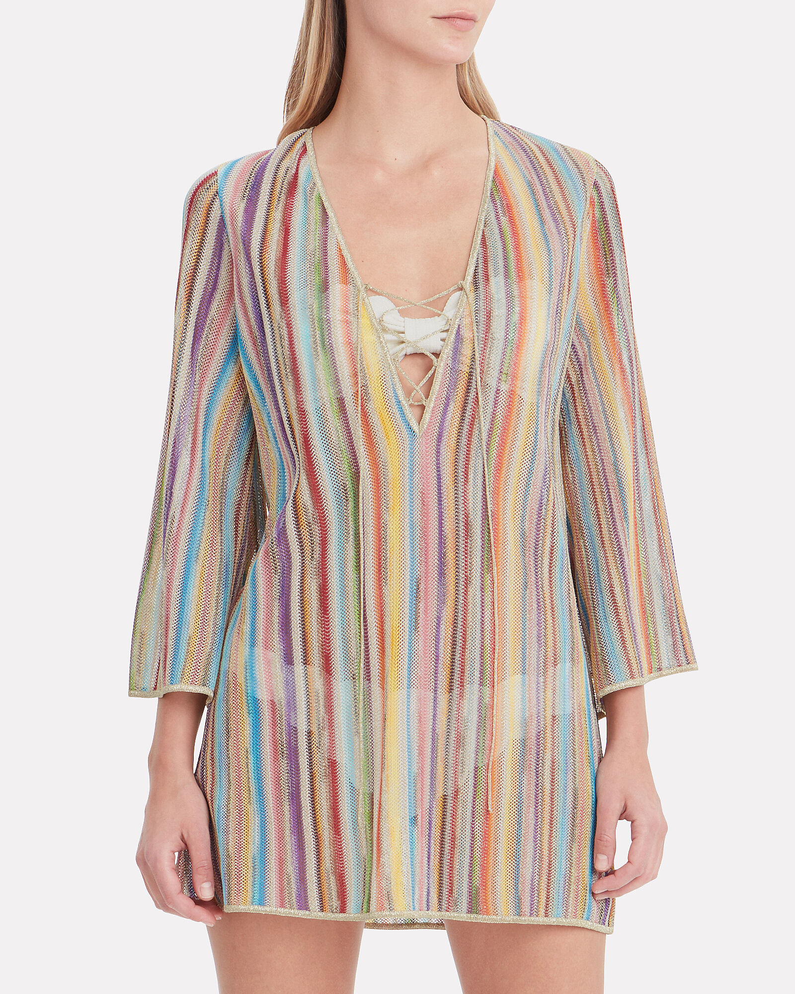 Rainbow Knit Cover-Up, MULTI, hi-res