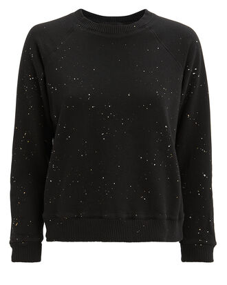 Splatter Black Sweatshirt, BLACK, hi-res