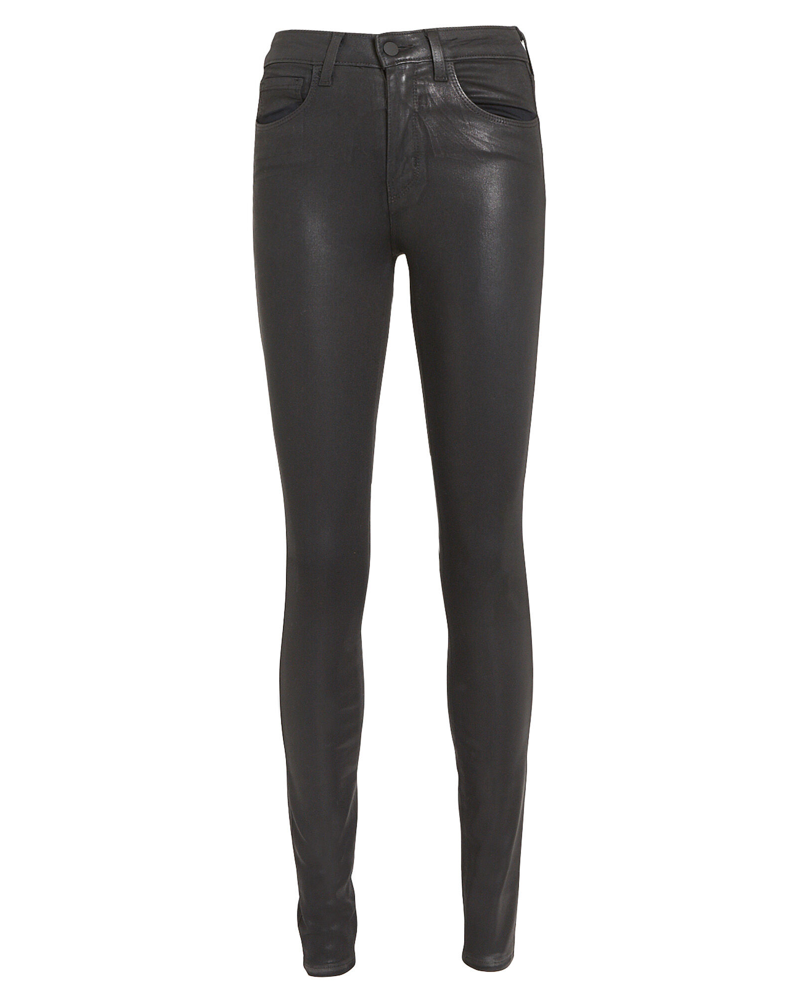 Marguerite Coated Skinny Jeans, BLACK, hi-res