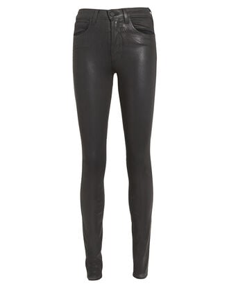 Marguerite Coated Skinny Jeans, BLACK WASH DENIM, hi-res