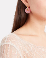 Mismatched Crystal Drop Earrings, PINK, hi-res