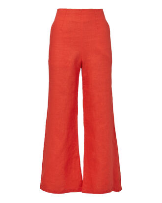 Tomas Crop Flare Pants, RED, hi-res