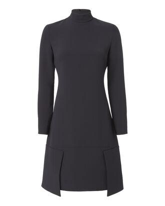 Panel Hem Shift Dress, NAVY, hi-res
