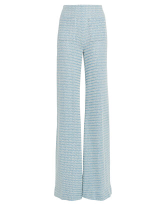 Luc Wide-Leg Knit Pants, BLUE, hi-res