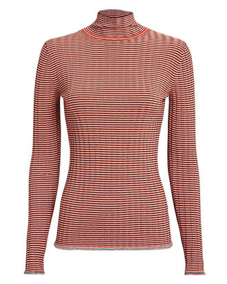 Striped Knit Turtleneck, RED/IVORY, hi-res