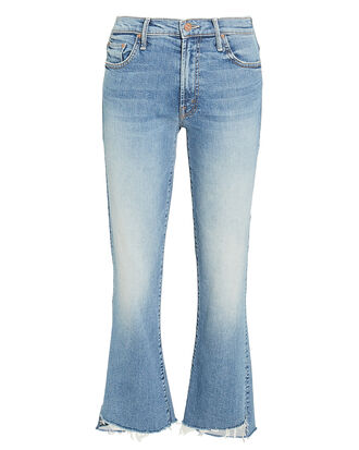 Insider Crop Step Fray Light Blue Jeans, LIGHT BLUE DENIM, hi-res