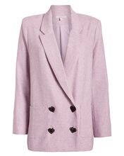 Betty Double-Breasted Blazer, LILAC, hi-res