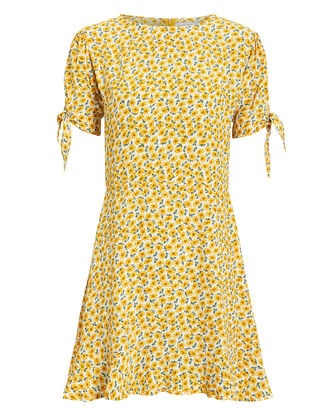 Daphne Mini Dress, YELLOW/FLORAL, hi-res