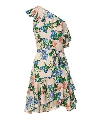 Perryn One Shoulder Floral Dress, PINK, hi-res