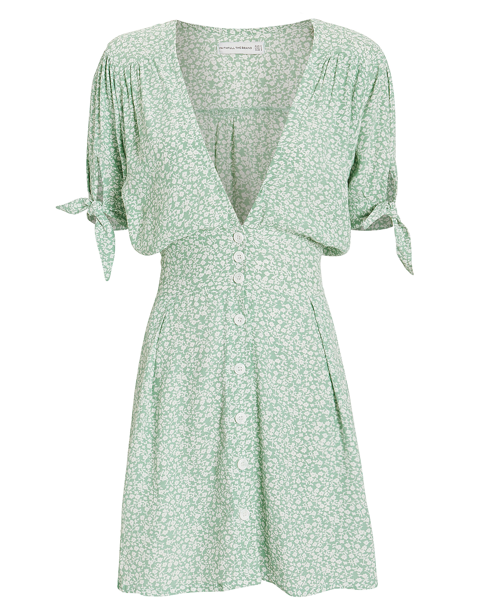 Marianne Mini Dress, GREEN/FLORAL, hi-res