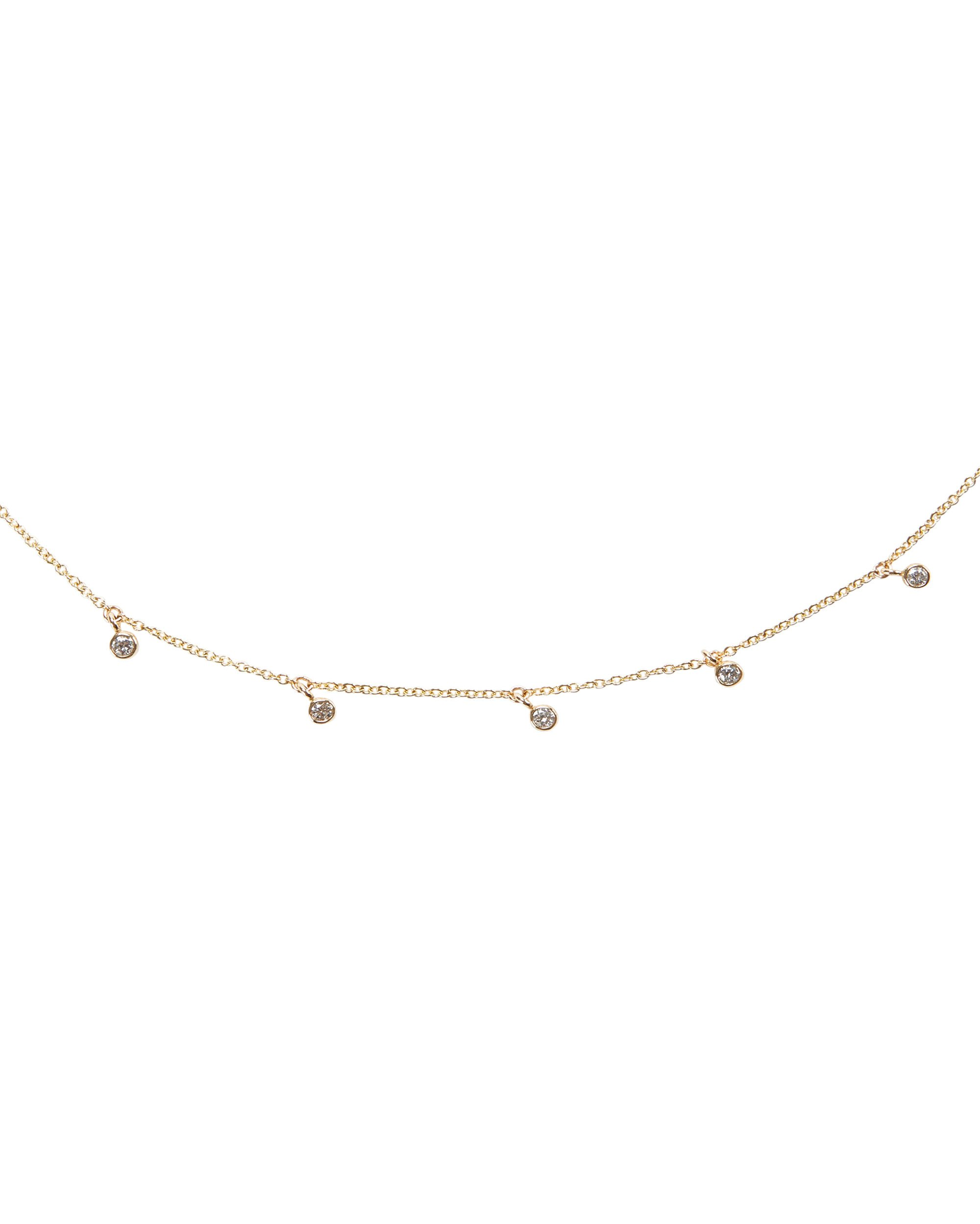 Dangling Diamonds Necklace, GOLD, hi-res