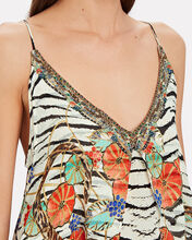 Animal Print Silk High-Low Dress, MULTI, hi-res
