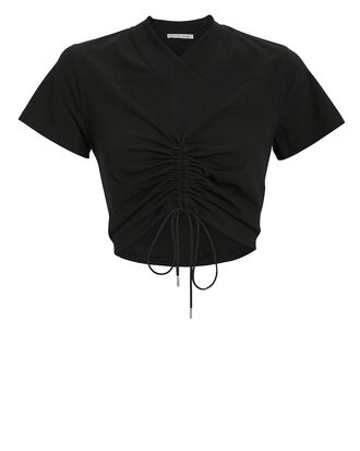 High Twist Cropped T-Shirt, BLACK, hi-res