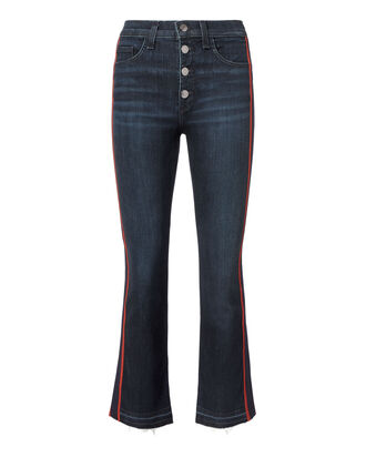Carolyn Tuxedo Stripe Baby Boot Jeans, DARK BLUE DENIM, hi-res