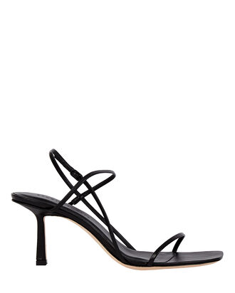 3.71 Leather Strappy Sandals, BLACK, hi-res