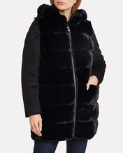 Hooded Faux Fur Parka, BLACK, hi-res
