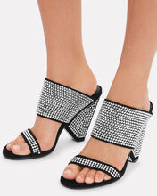 Lory Crystal Embellished Sandals, BLK/WHT, hi-res