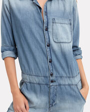 Chambray Mechanic Jumpsuit, BLUE-LT, hi-res