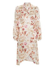 Floral Wrap Dress, IVORY/FLORAL, hi-res