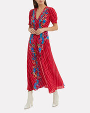 Lea Floral Midi Dress, RED/FLORAL/POLKA DOT, hi-res
