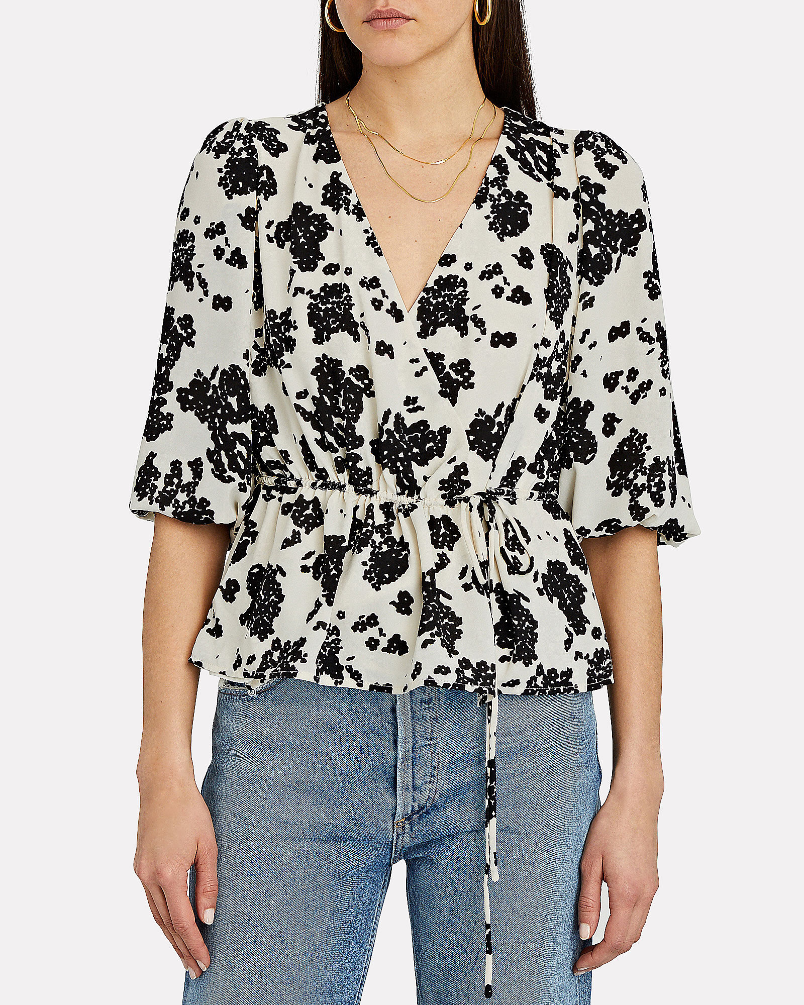 Orchid Floral Wrap Top, MULTI, hi-res