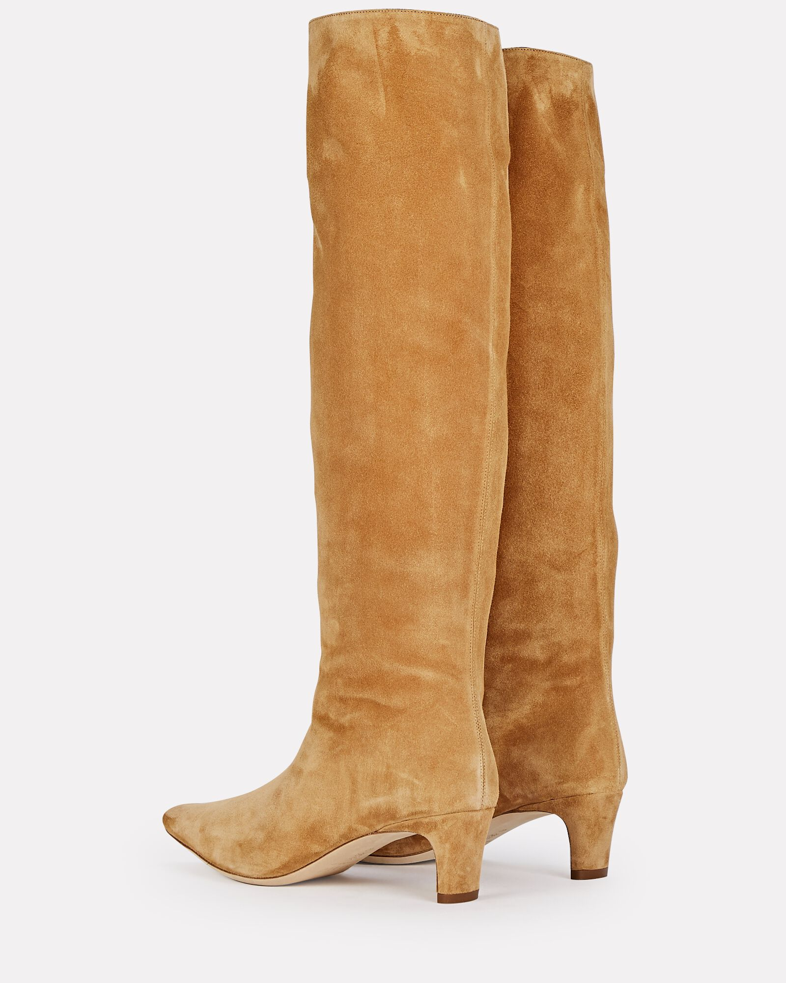 Wally Suede Knee-High Boots, BROWN, hi-res