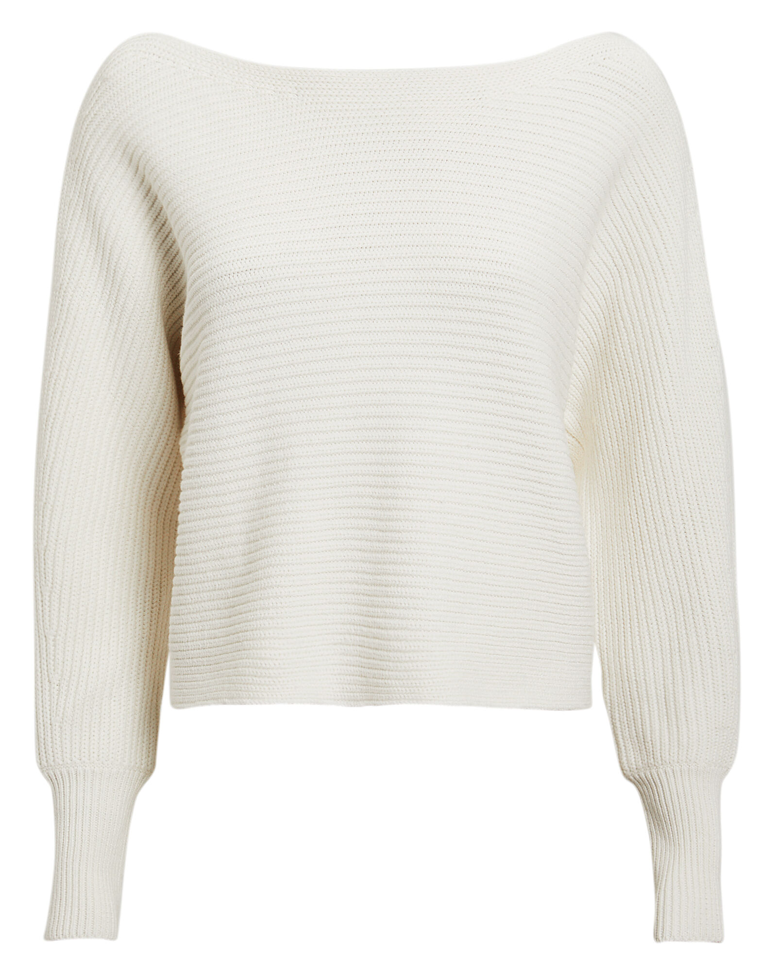 Luna Rib Knit Sweater, IVORY, hi-res