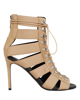 Lindsay Lace-Up Tan Sandals, TAN, hi-res