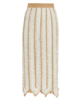 Firtek Crocheted Midi Skirt, IVORY, hi-res