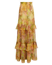Tiered Ruffle Maxi Skirt, MULTI, hi-res