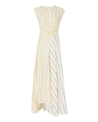 Stripe Twisted Waist Maxi Dress, STRIPE, hi-res