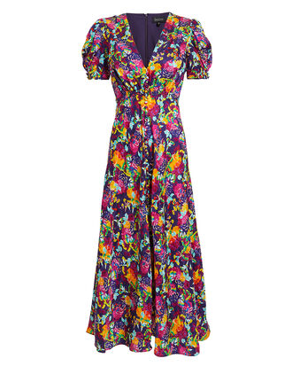 Camellia Midi Dress, PURPLE/FLORAL, hi-res
