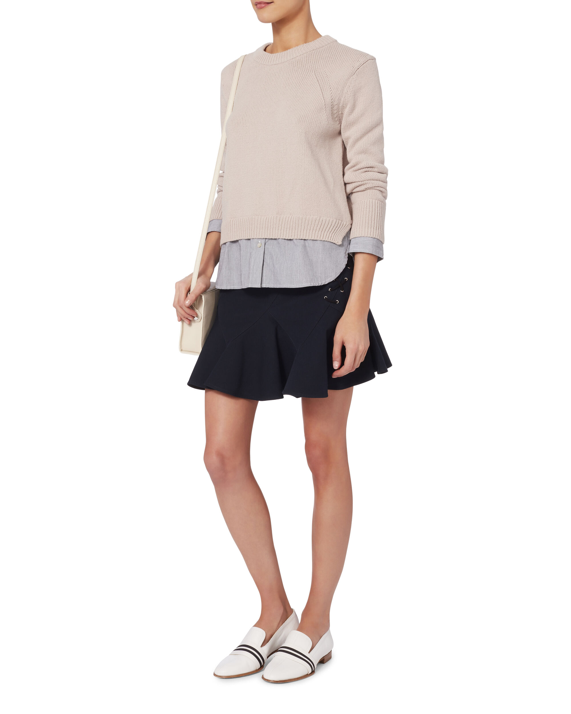 Ashland Layered Pullover Sweater, PINK, hi-res