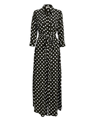 Cameron Polka Dot Shirtdress, BLK/WHT, hi-res