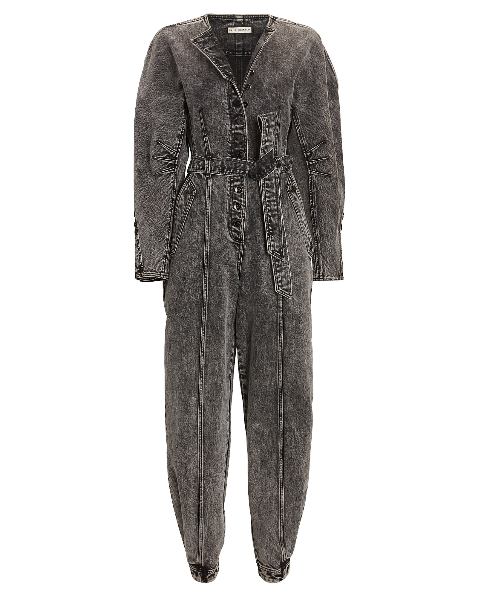 Atlas Belted Denim Jumpsuit, ACID WASH DENIM, hi-res