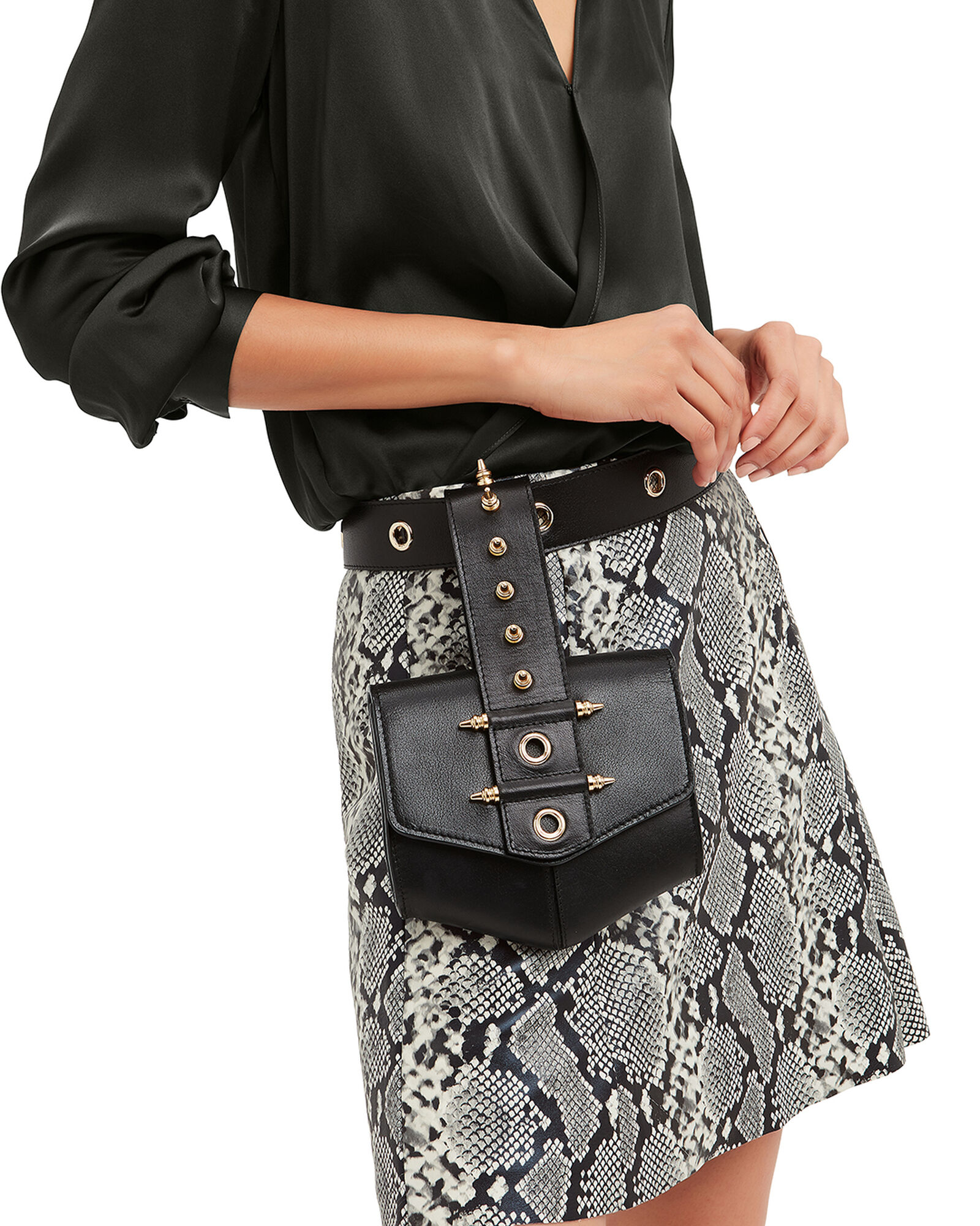 Rodhawk Leather Belt Bag, BLACK, hi-res