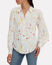 Marcilly Floral Blouse, WHITE/FLORAL, hi-res