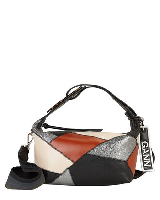 Patchwork Top Handle Leather Bag, MULTI, hi-res