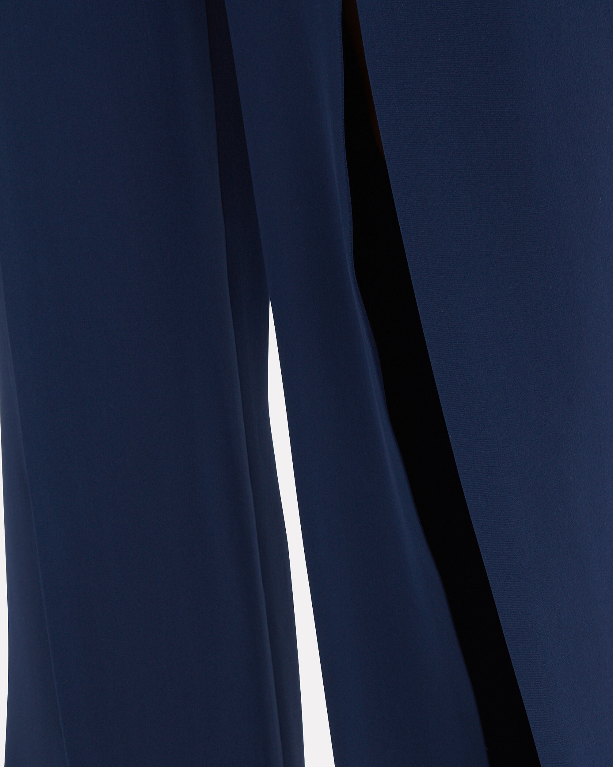 Gemma Front Slit Pants, NAVY, hi-res