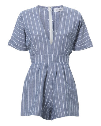 Zion Striped Romper, BLUE-MED, hi-res