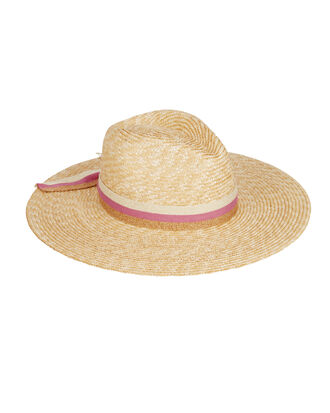 Wicklow Classic Straw Fedora, PINK/TAN/GOLD, hi-res
