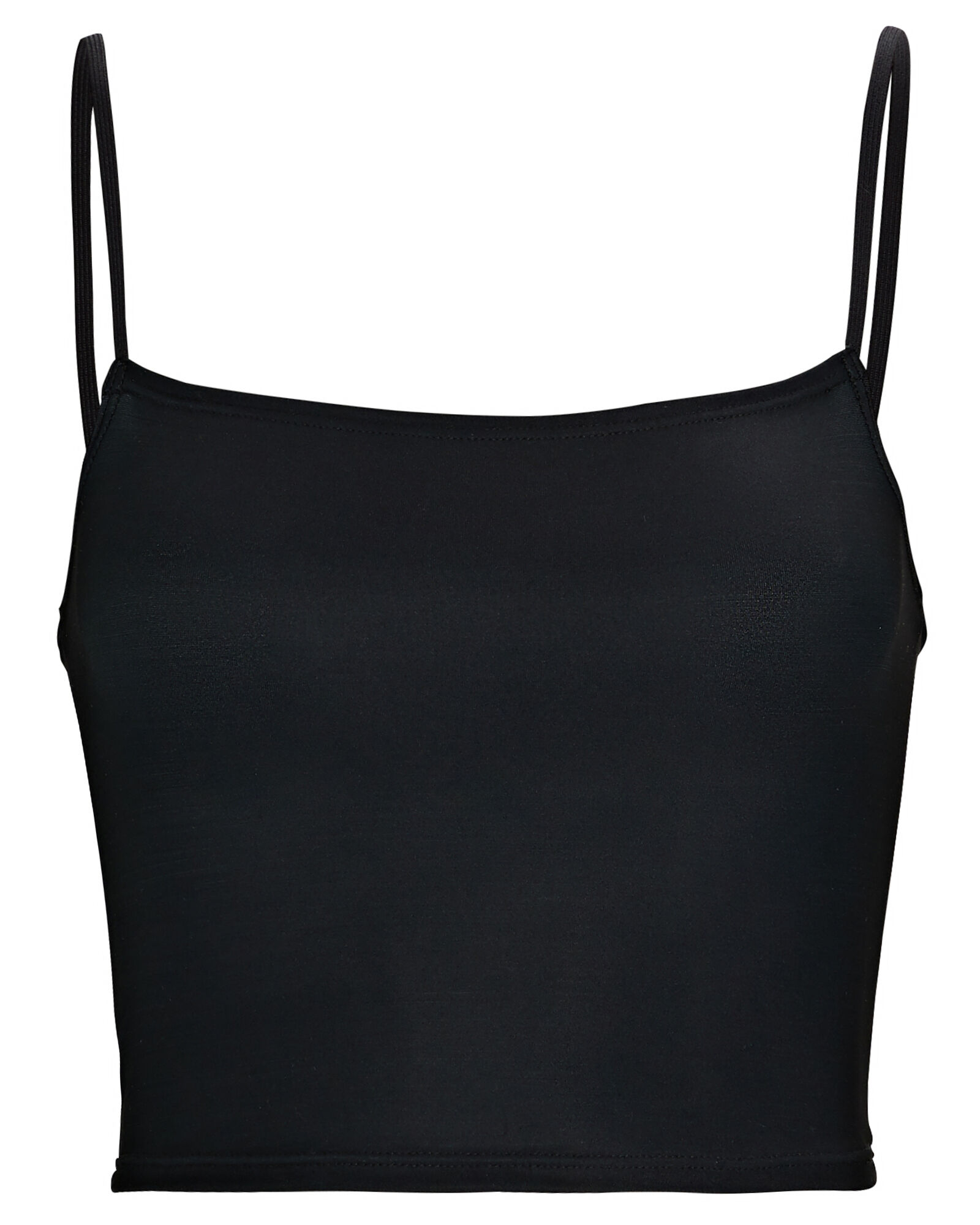 Second Skin Cropped Camisole, BLACK, hi-res