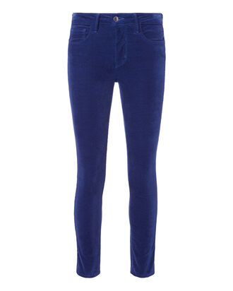 Margot Velvet Pants, BLUE, hi-res