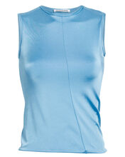 Twist Cropped Tank Top, BLUE-LT, hi-res